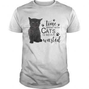 Time spent with cats is never wasted unisex