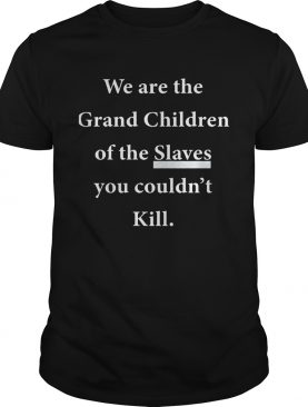 We Are The Grandchildren Of The Slaves You Couldn't Kill Shirt