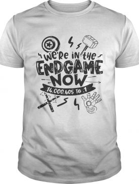 We're in the Endgame now 14000605 to 1 shirts