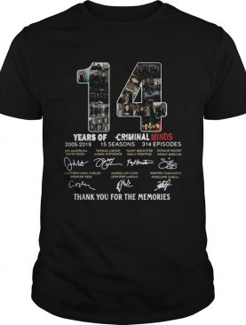 14 Years of Criminal Minds 2005-2019 thank you for the memories signature shirt