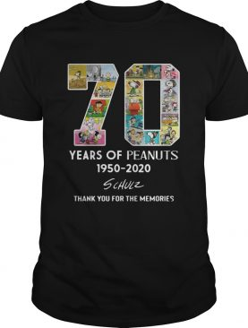 70 years of Peanuts 1950-2020 schulz thank you for the memories shirt
