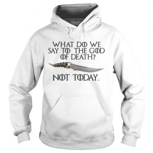 Arya Stark Catspaw What do we say to the God of death Not Today GOT hoodie
