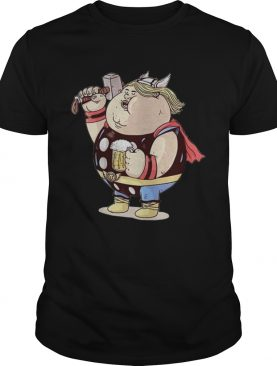 Avengers Endgame Thor fat and beer shirt