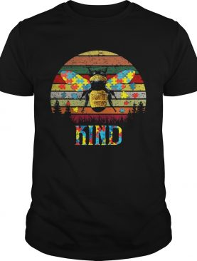 Bee Kind Autism Awareness vintage sunset shirt