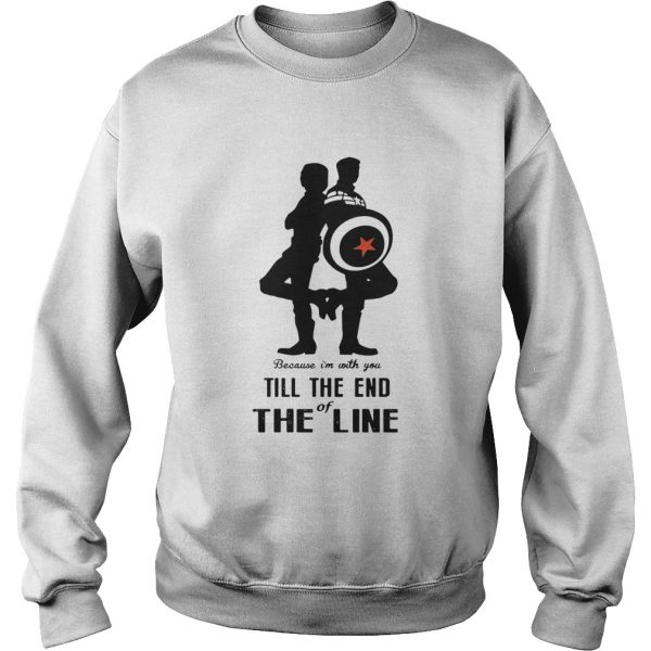 Captain America and Bucky Barnes because Im with you till the end of the line sweatshirt