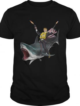 Donald Trump riding shark Independence Day 4th of July shirt