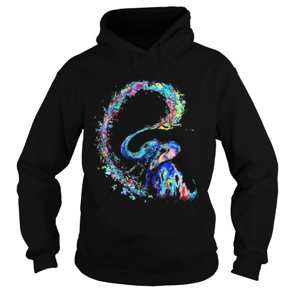 Elephant spraying rainbow hoodie
