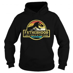 Fatherhood Like A Walk In The Park Sunset Retro hoodie