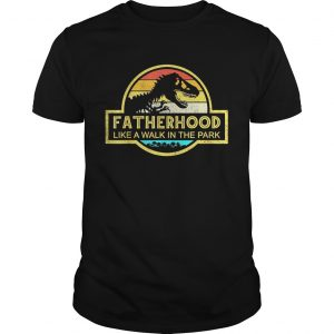 Fatherhood Like A Walk In The Park Sunset Retro unisex