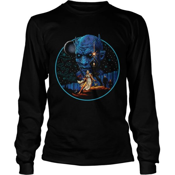 Game of Thrones Jon Snow Daenerys Targaryen and The Night King longsleeve tee