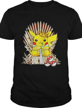Game of Thrones Pikachu King of Iron throne shirt