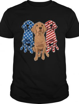 Golden Retriever Flag T-shirt