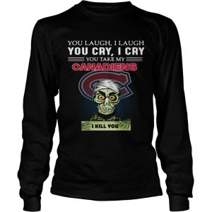 Jeff Dunham Achmed the Dead Terrorist laugh cry Montreal Canadiens I kill you longsleeve tee