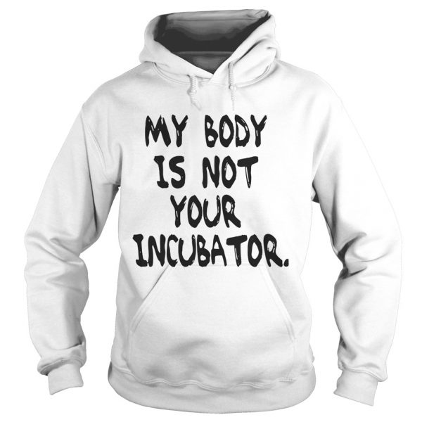 My body is not your incubator hoodie
