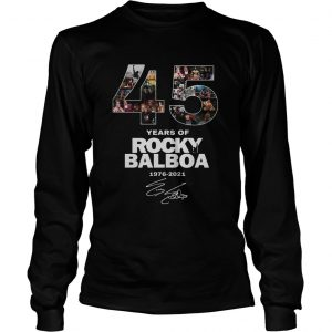 Official 45 years of Rocky Balboa 1976 2021 longsleeve tee