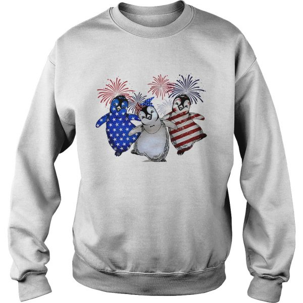 Penguin American flag sweatshirt