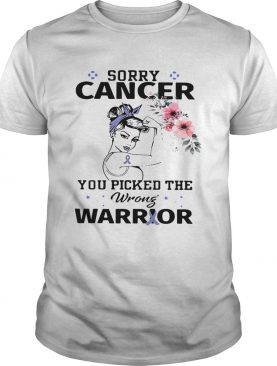 Strong girl sorry cancer you picked the wrong warrior shirt