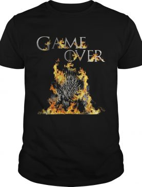 The Iron Throne burnt game over Game of Thrones shirt