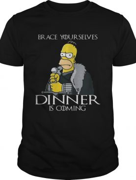 The Simpsons brace yourselves dinner is coming shirt
