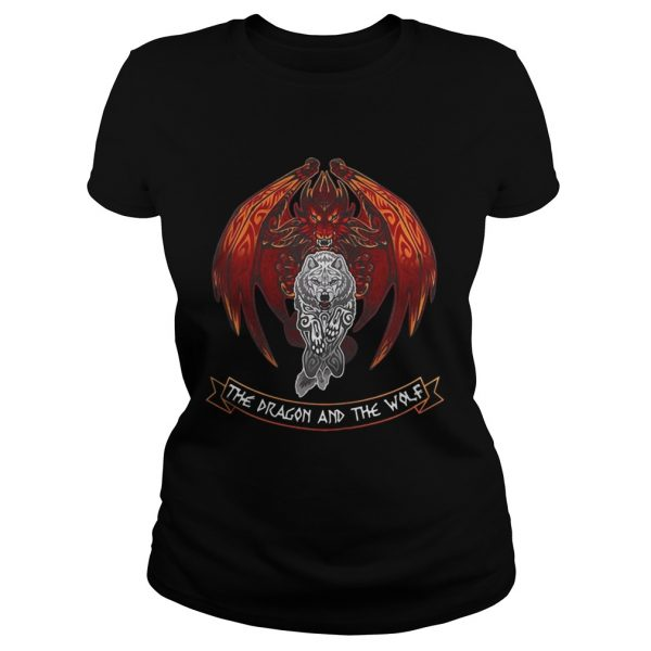The dragon and the wolf Game of Thrones ladies tee