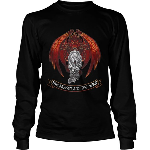 The dragon and the wolf Game of Thrones longsleeve tee