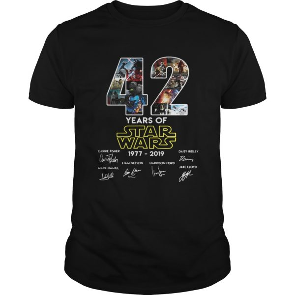42 years of star wars 19772019 signatures unisex