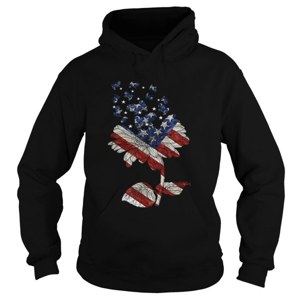 4th Of July Independence Day Flower Shih Tzu Dog hoodie