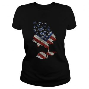 4th Of July Independence Day Flower Shih Tzu Dog ladies tee