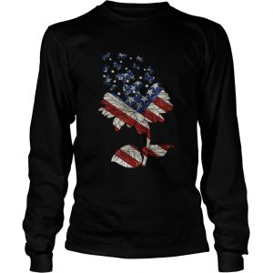 4th Of July Independence Day Flower Shih Tzu Dog longsleeve tee