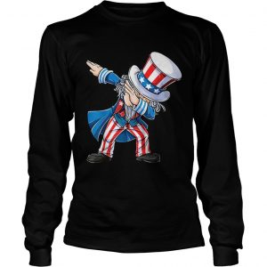 4th Of Julys For Kids Dabbing Uncle Sam Boys Gifts longsleeve tee