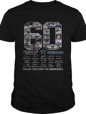 60 years of Dallas Cowboys Thank you for the memories shirt