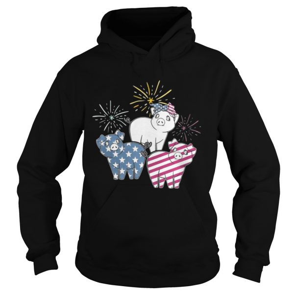 American Flag Pigs For Independence Day Funny hoodie