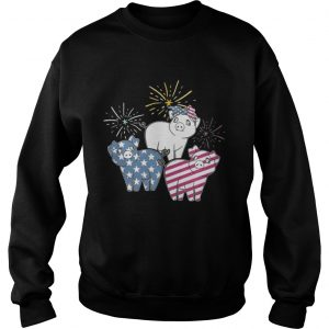 American Flag Pigs For Independence Day Funny sweatshirt