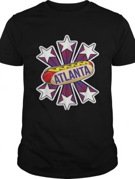 Atlanta Hot Dog 4th of July USA Flag Patriotic shirt