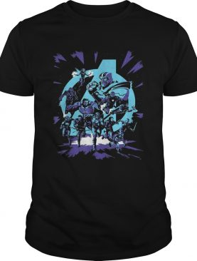 Avengers Endgame Thanos and Super Heroes shirt