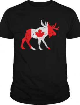 Canada Maple Leaf Animal Canadian Flag Happy Canada Day shirt