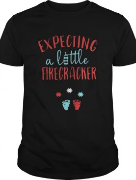 Expecting a little firecracker shirt