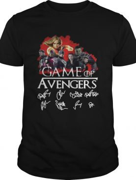 Game of Avengers all signature Game of Thrones shirt
