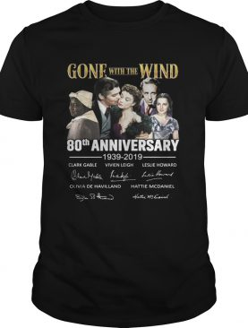 Gone with the wind 80th anniversary 1939 2019 shirt