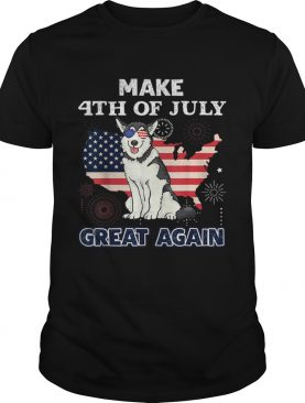 Husky Make 4th Of July Great Again Dog shirt