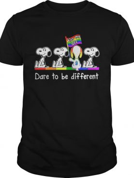 LGBT Snoopy dare to be different kiss my ass shirt