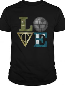 Love star wars harry potter and doctor who shirt