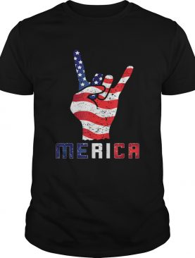 Merica Rocks Usa Flag 4th Of July Outfit shirt