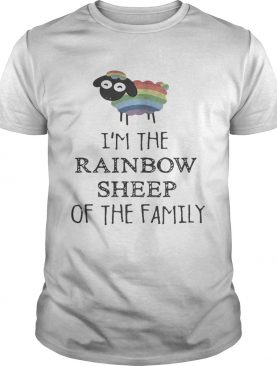 Official LGBT Im the rainbow sheep of the family shirt