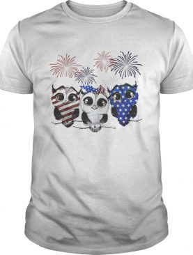 Owls colors Flag America shirt