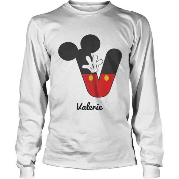 Personalized Name V Begins Mickey Hat Funny longsleeve tee