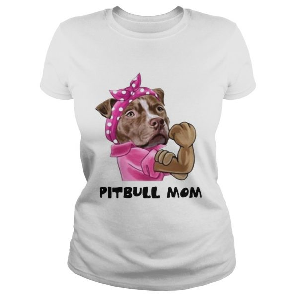 Pink bandana Pitbull mom ladies tee