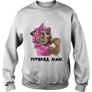 Pink bandana Pitbull mom sweatshirt