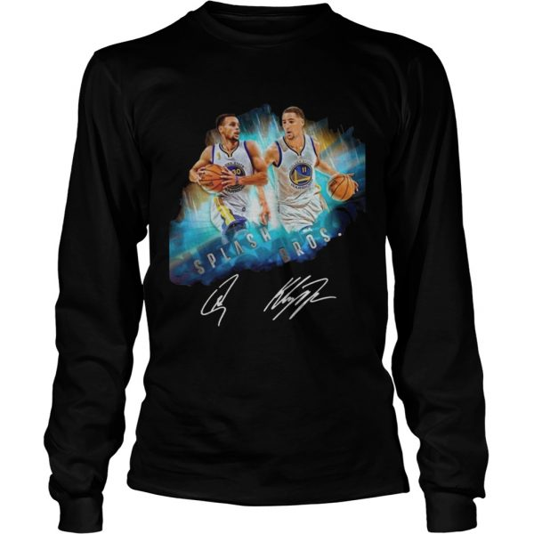 Splash BrothersSuper Splash Bros Klay Thompson Stephen Curry longsleeve tee