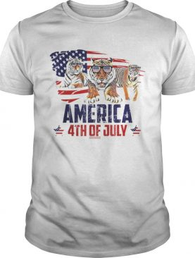 Tiger Patriotic American America 4th Of July shirt